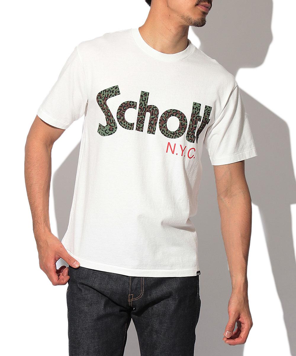 レオパードロゴ クルーネックTシャツ