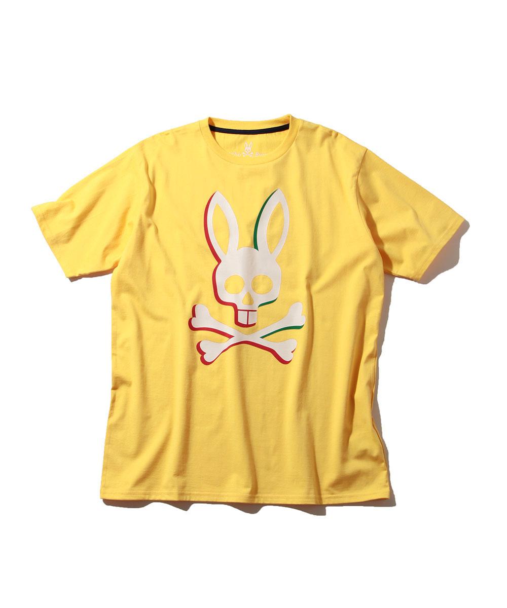 3DトリコロゴプリントクルーネックTシャツ