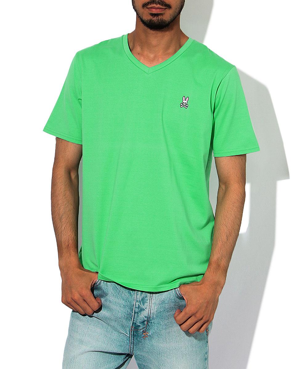 ワンポイントVネックTシャツ
