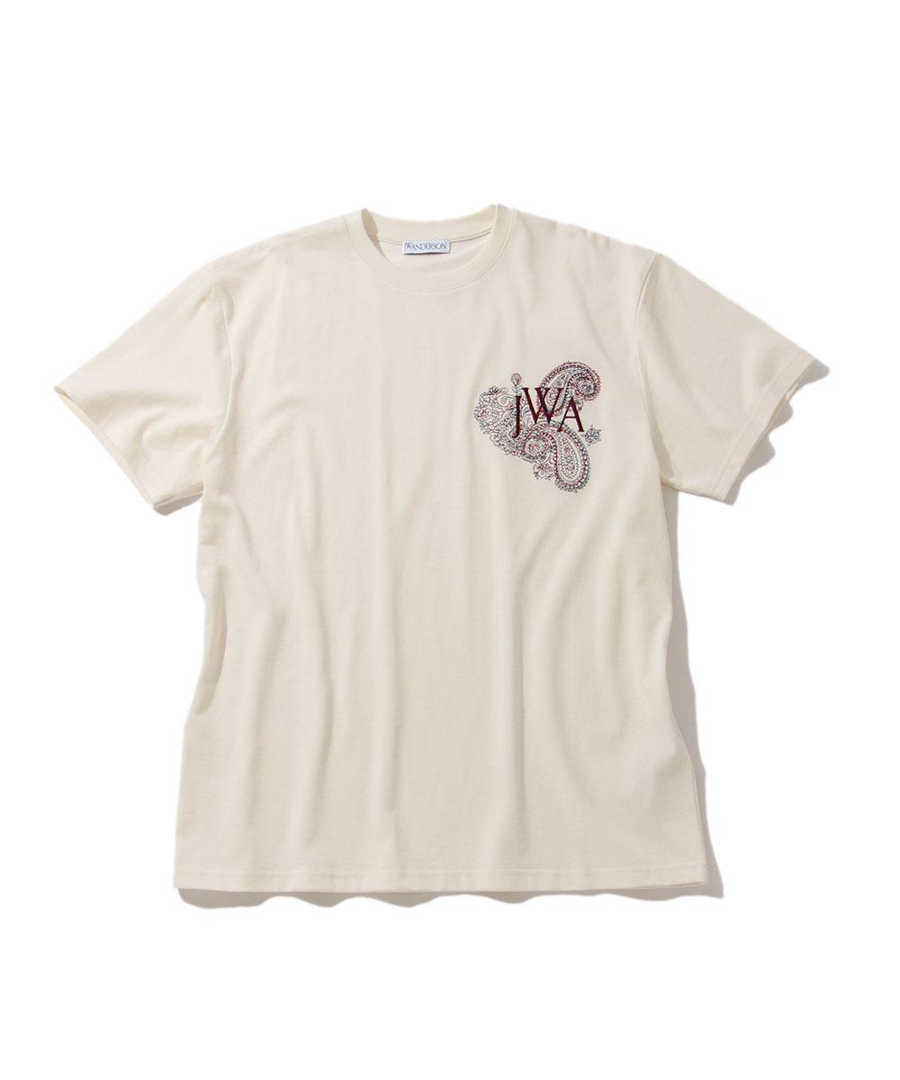ロゴ刺繍クルーネックTシャツ