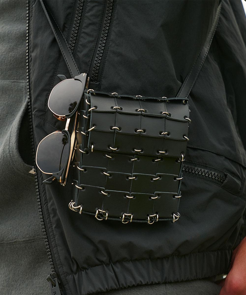 レザースリングバッグ
