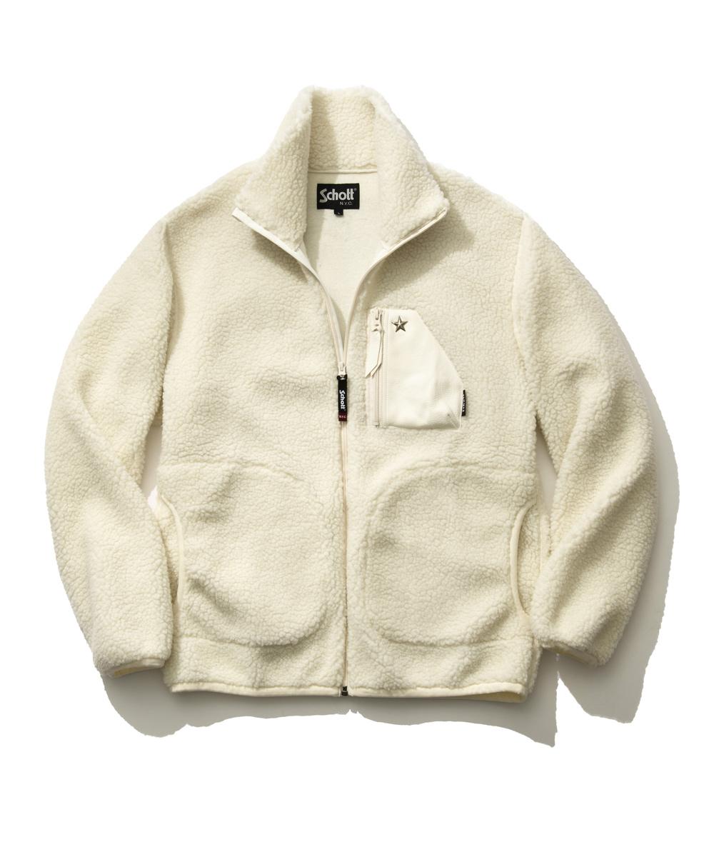 【別注・限定商品】レザーポケットフリースジャケット