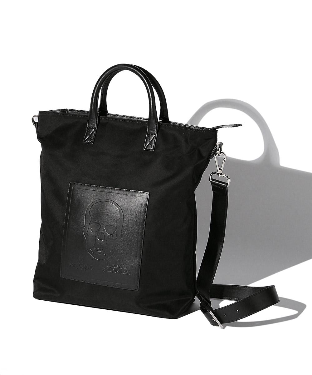ルシアン ペラフィネ×モラビト ナイロンレザートートバッグ