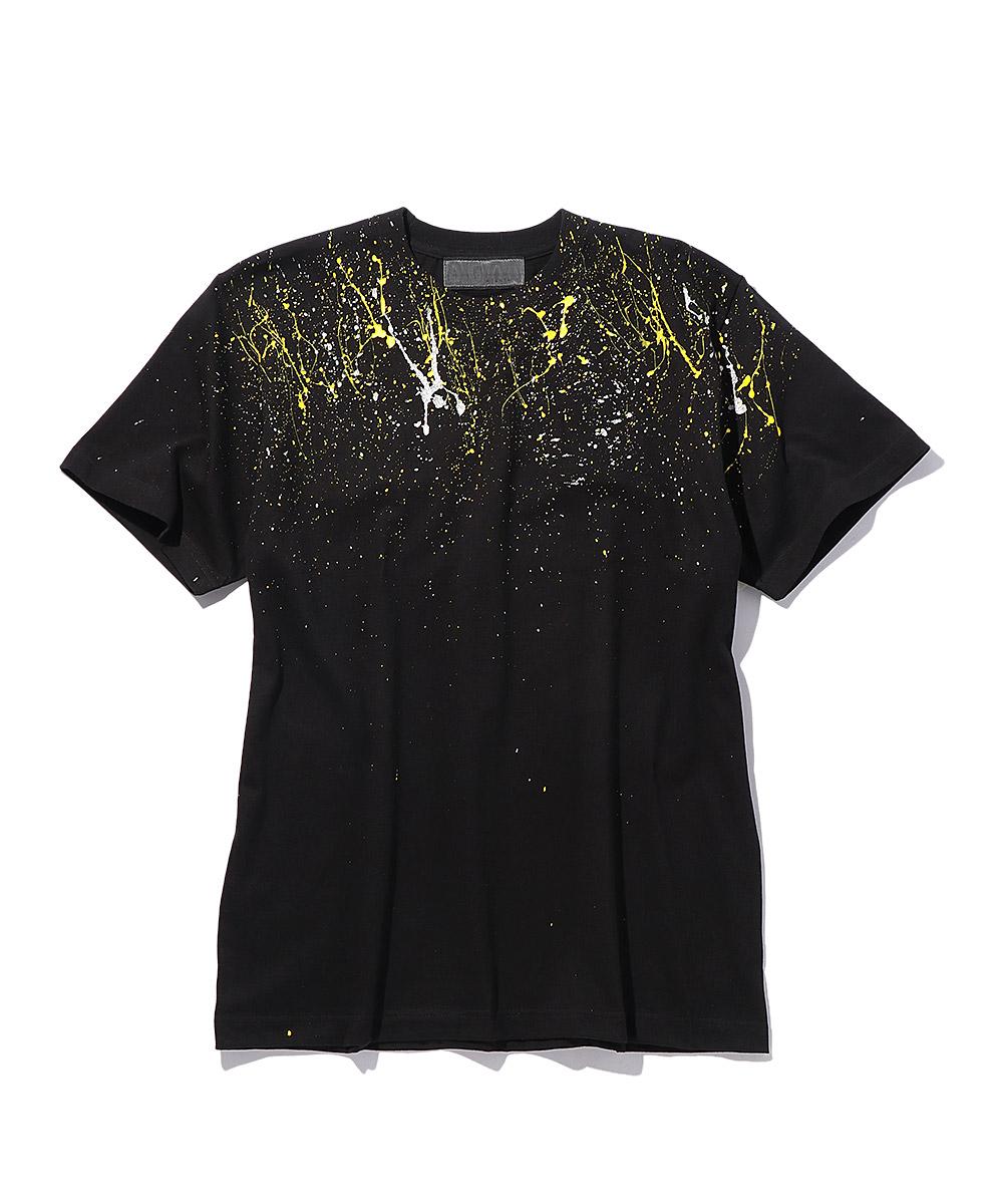 ペンキ加工クルーネックTシャツ