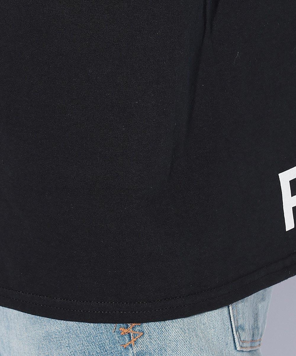 ヘムロゴプリントクルーネックTシャツ