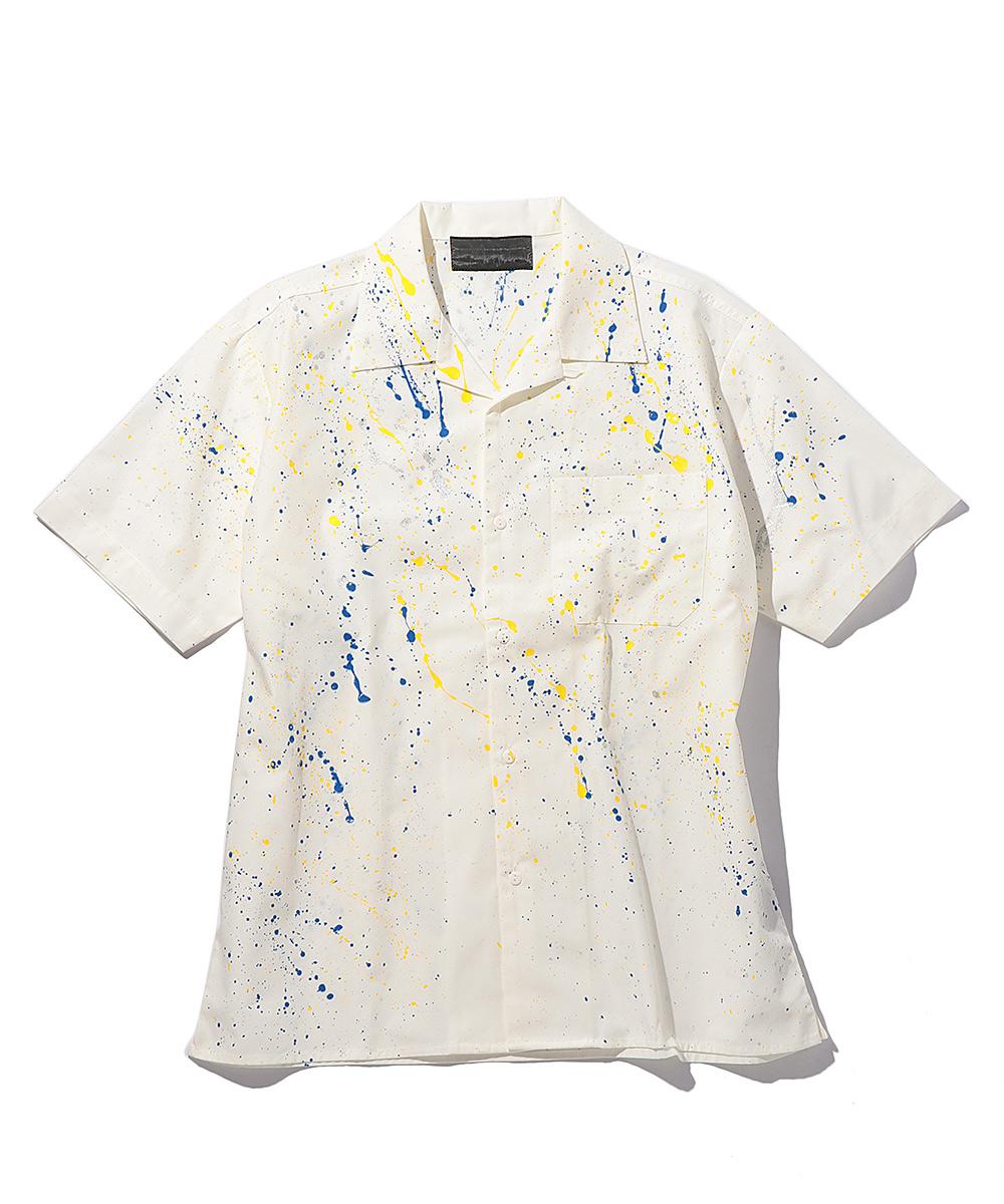 ペイント加工シャツ