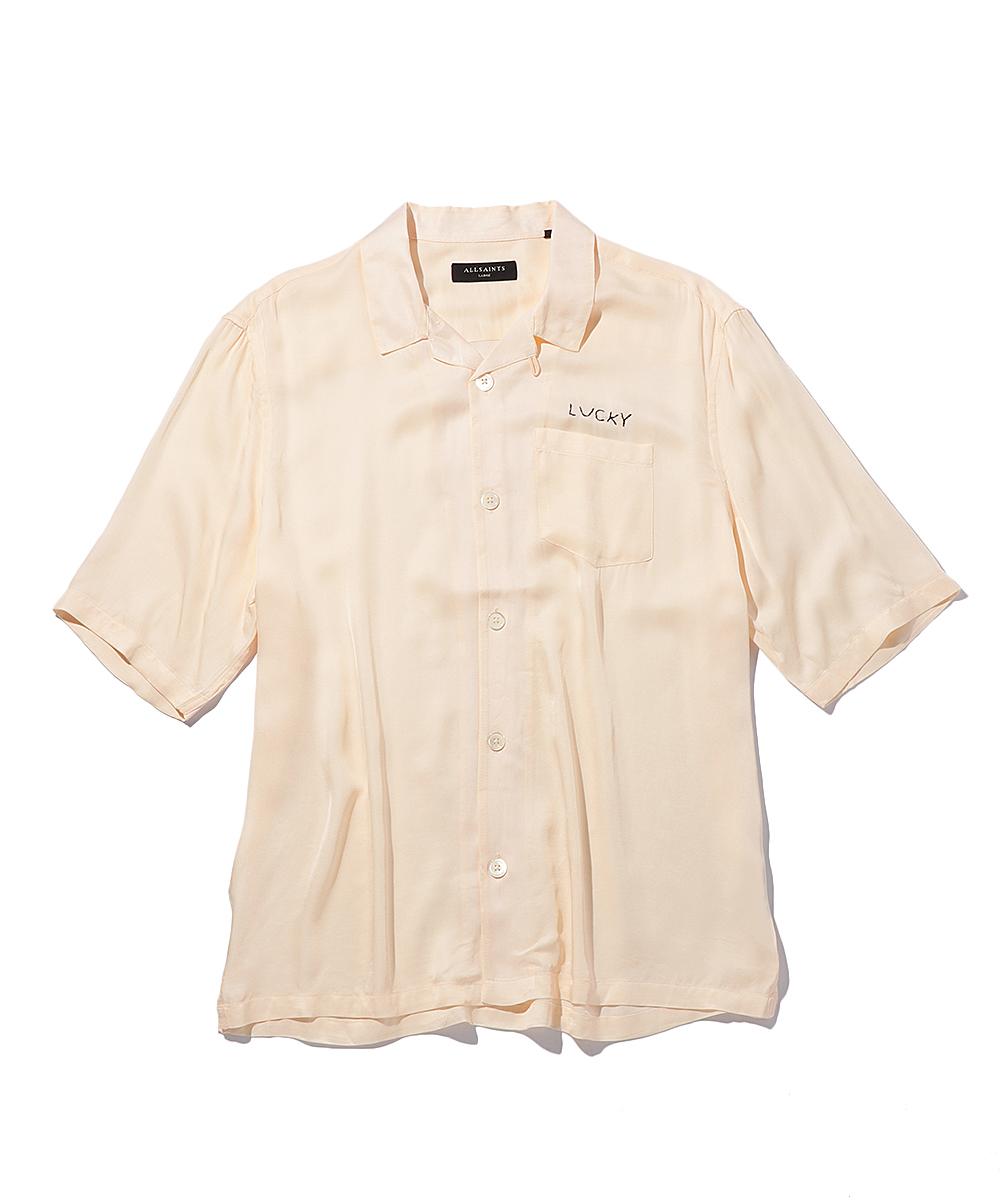 刺繍オープンカラーシャツ