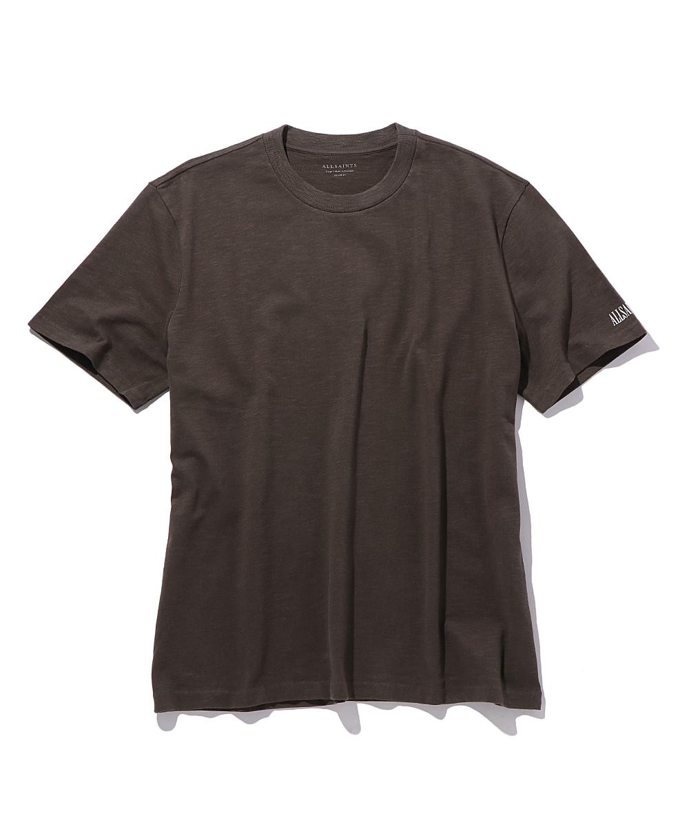 袖ロゴプリントクルーネックTシャツ