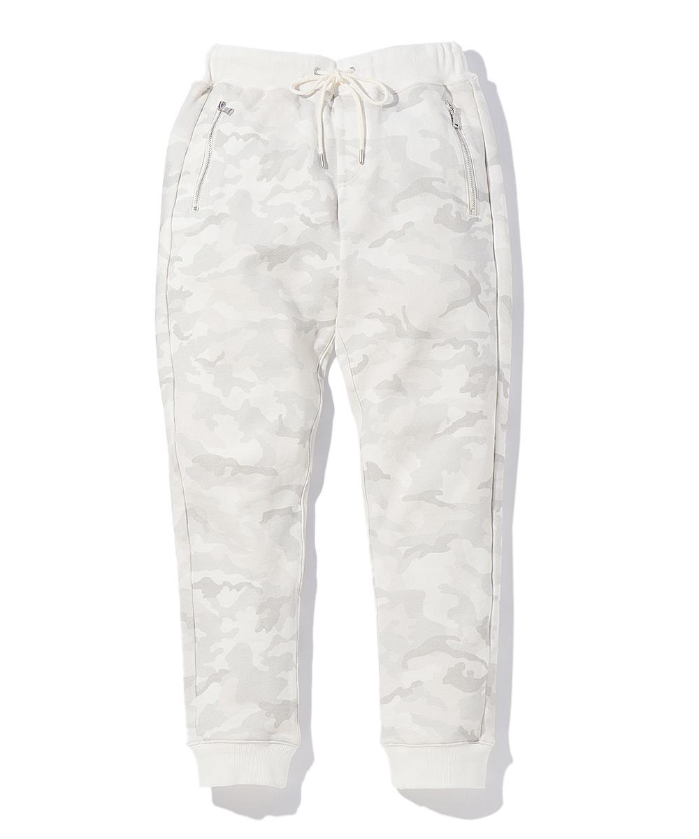 【別注商品】ホワイトカモ柄バックスカル ジョガーパンツ
