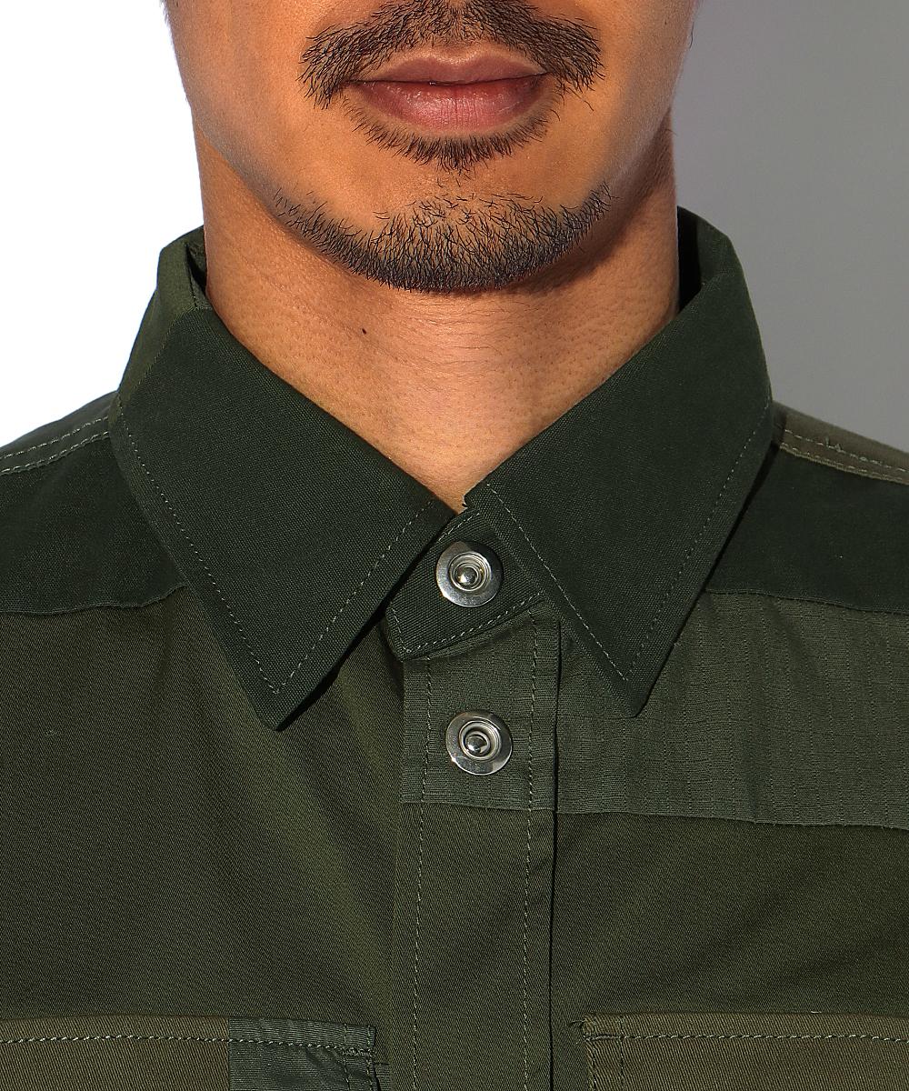 パッチワークミリタリーシャツ
