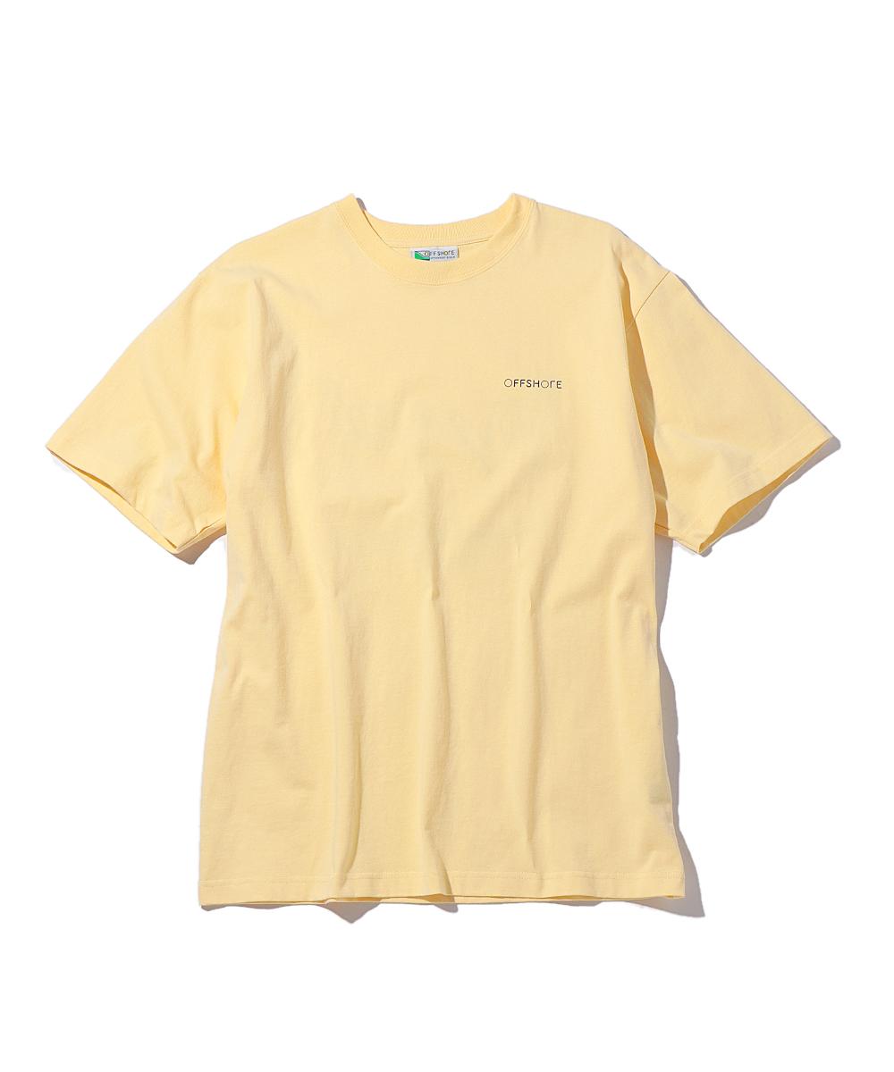 オフショア×ショウ ワタナベ プリントクルーネックTシャツ