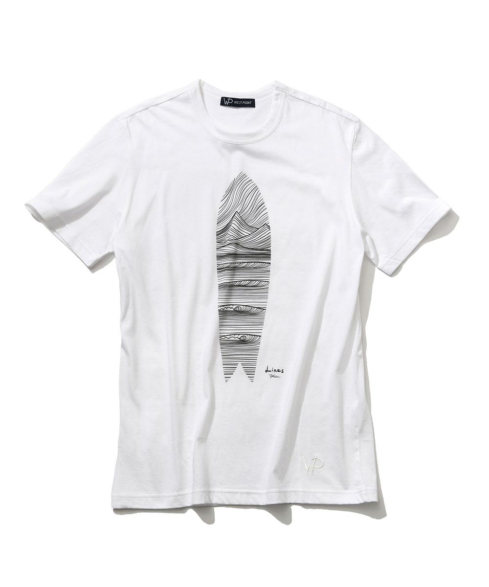【限定商品】〈ダブルピー ウエストポイント〉×ジョナス・クレアッソン クルーネックTシャツ