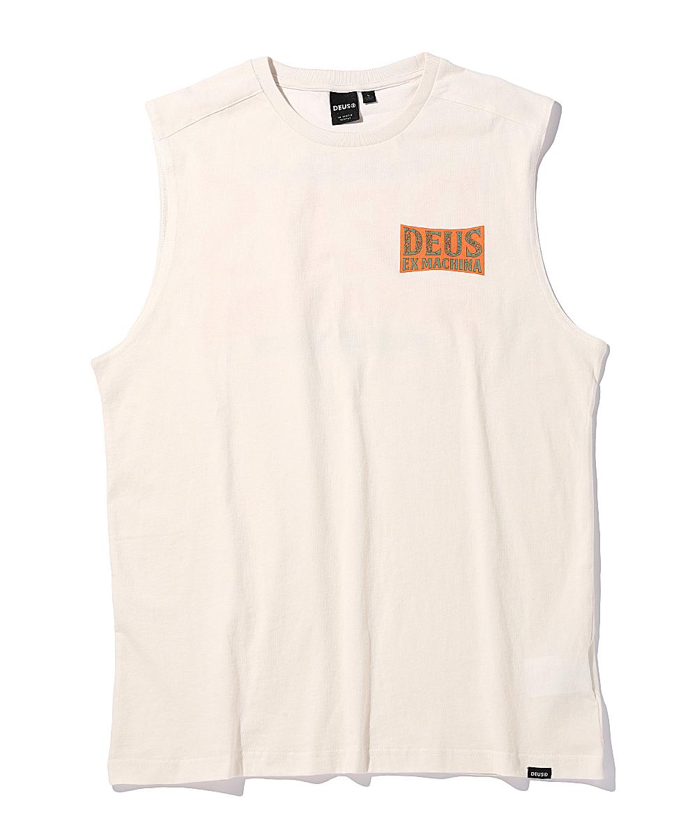 バックプリントロゴノースリーブTシャツ