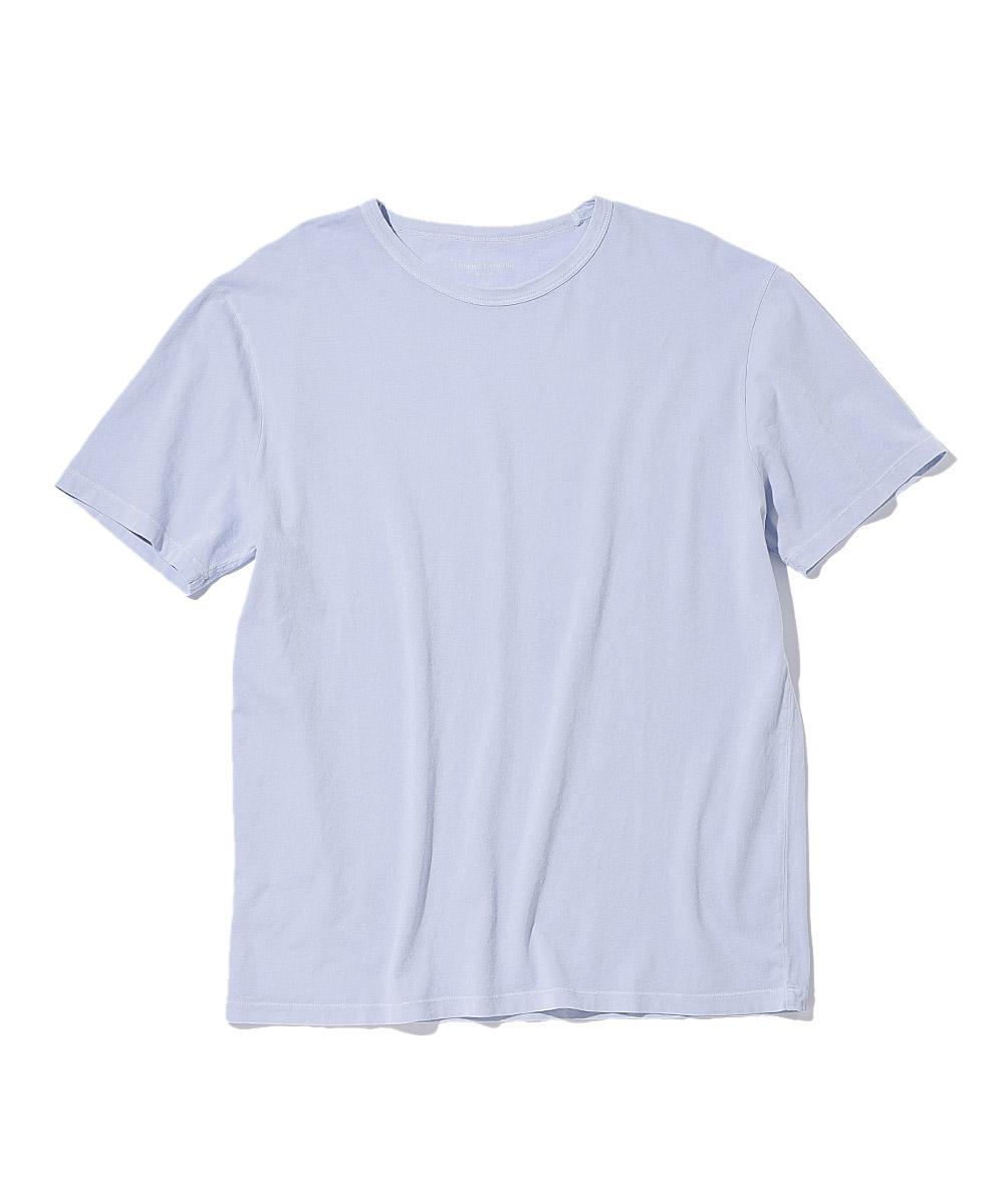 ピグメントダイクルーネックTシャツ