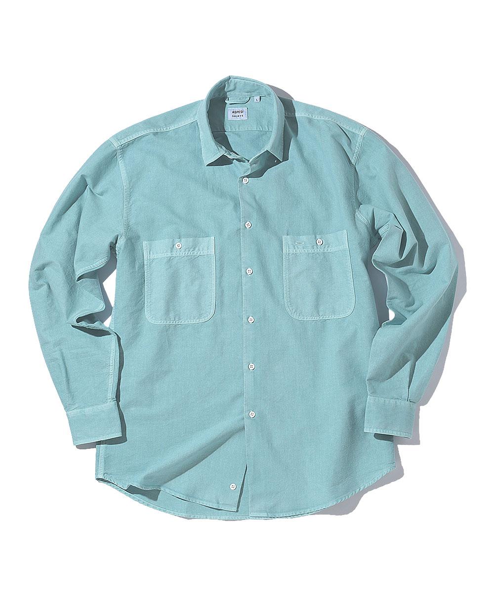 コットンガーメントダイシャツ