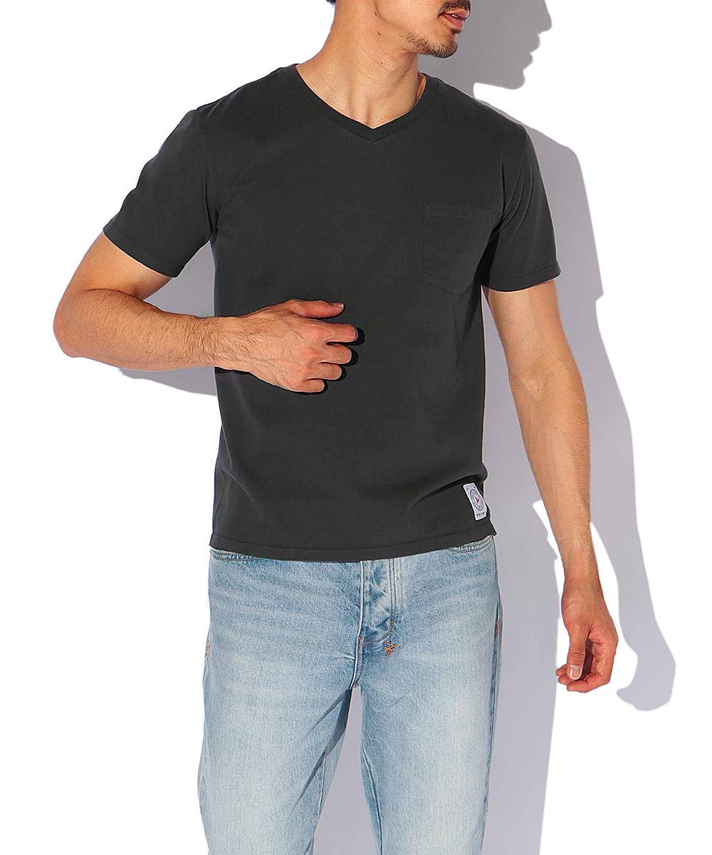 メイドインUSA VネックポケットTシャツ