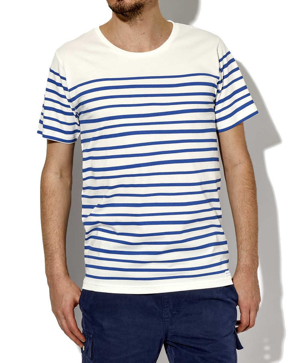 クルーネックボーダーTシャツ