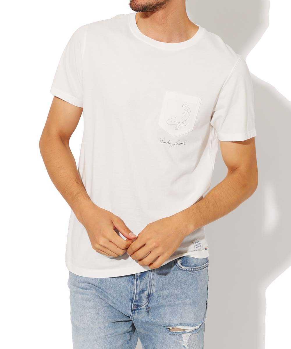バンクス ジャーナル×キャサリン レックス クルーネック刺繍ポケットTシャツ