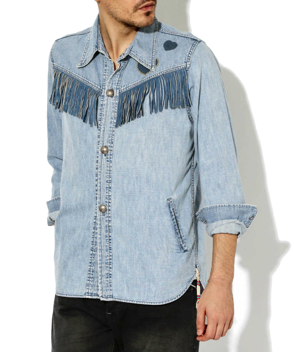【別注・限定販売商品】フリンジデニムシャツジャケット
