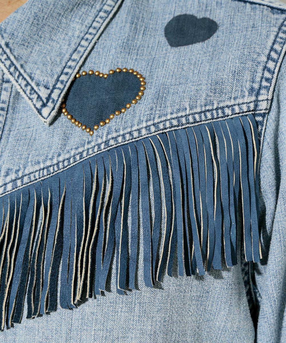 【別注・限定商品】フリンジデニムシャツジャケット