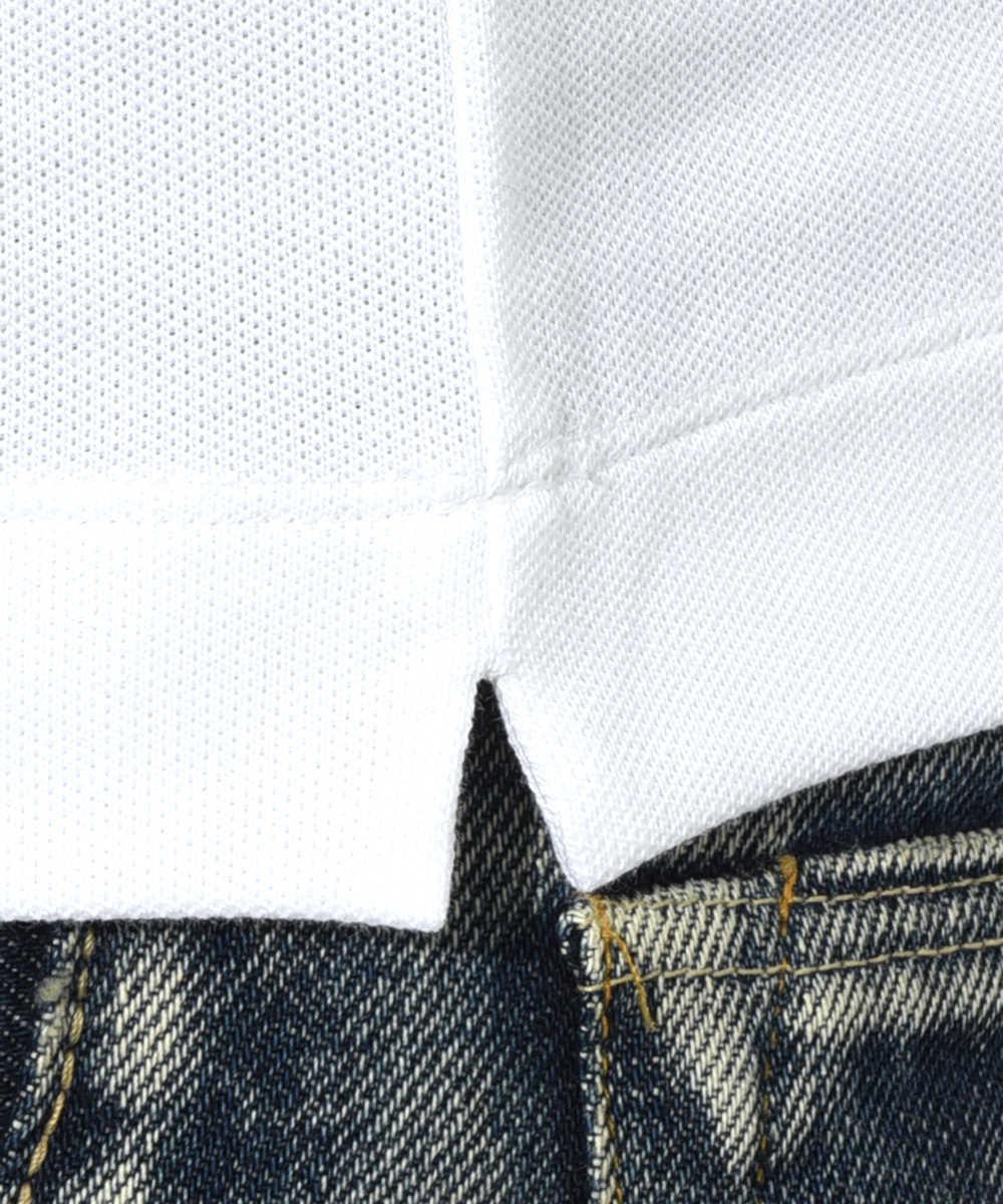 ロングスリーブソリッドポロシャツ
