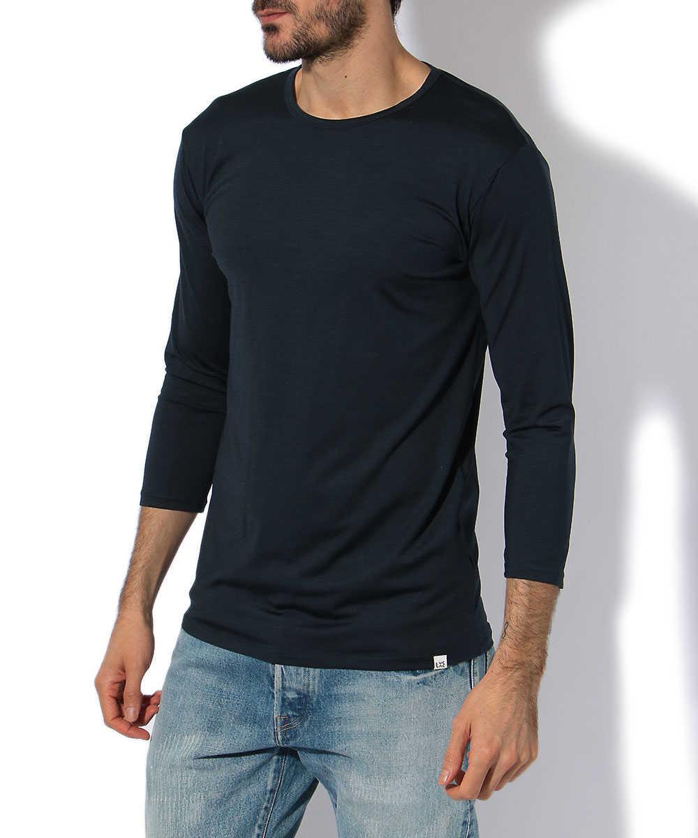 7分袖クルーネックTシャツ