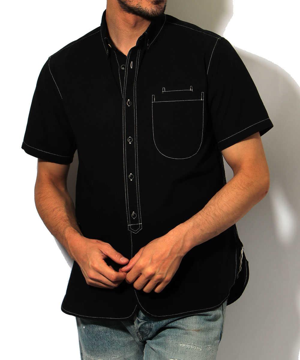 【別注・限定商品】カラーシャンブレー半袖シャツ
