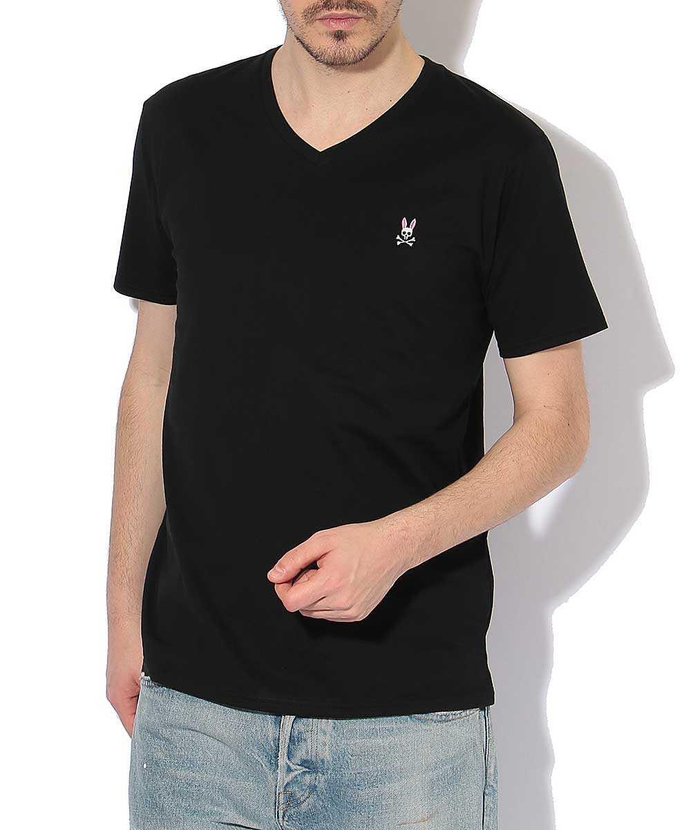 VネックワンポイントTシャツ