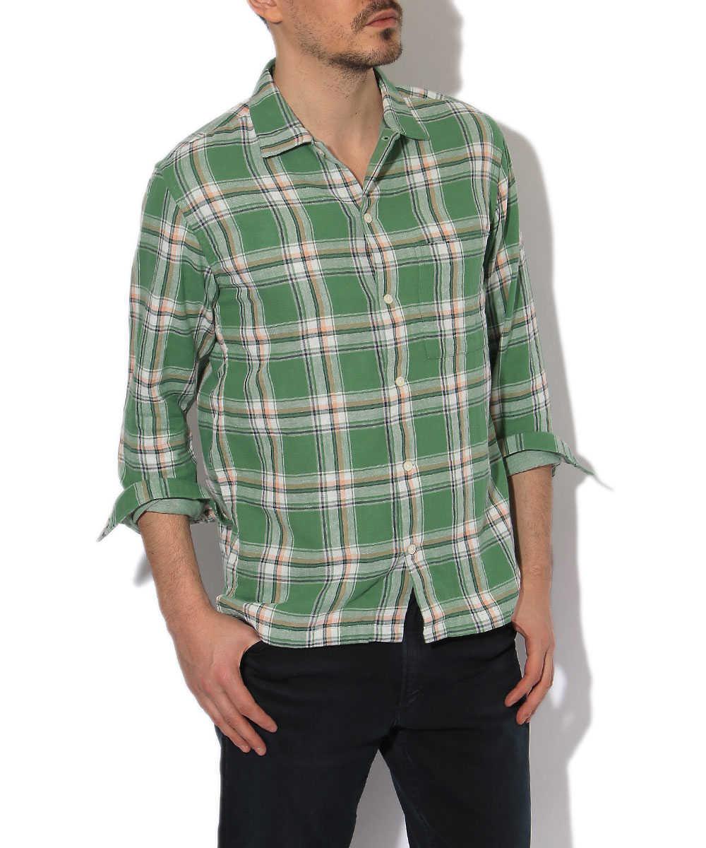 ダブルクロスチェックシャツ