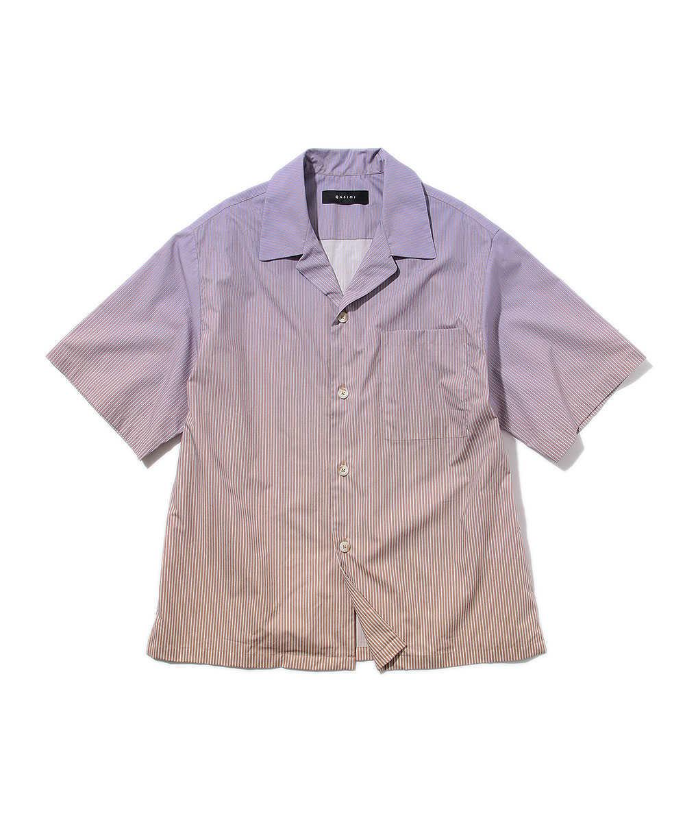 ストライプリゾートシャツ