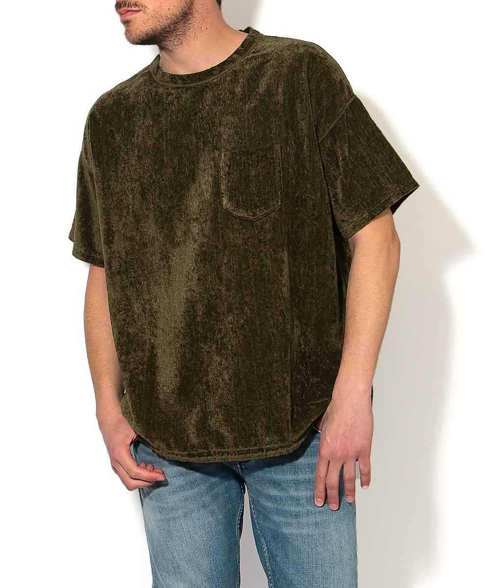 リネンパイルクルーネックTシャツ