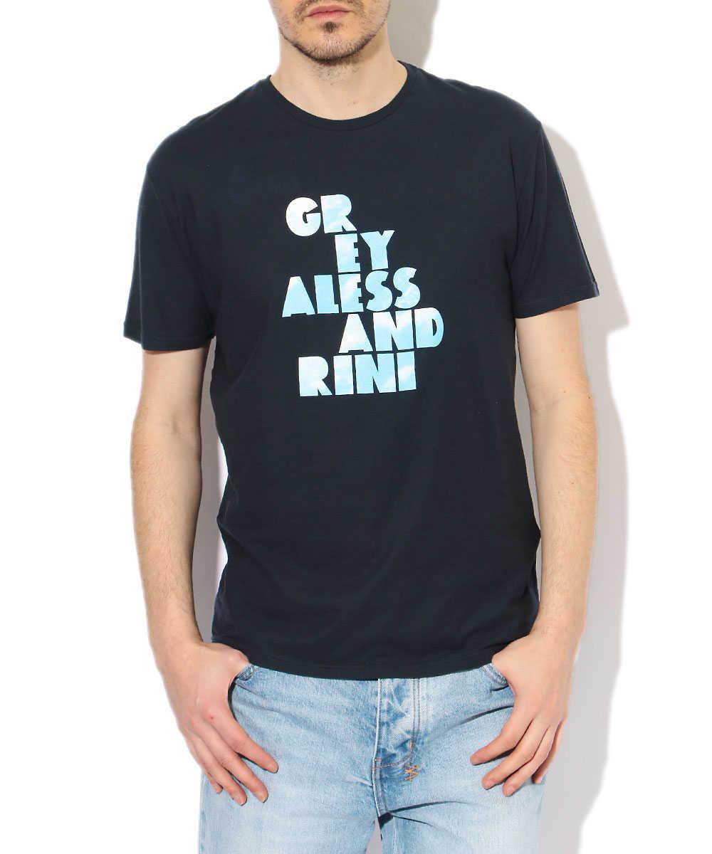 クルーネックブランドロゴTシャツ
