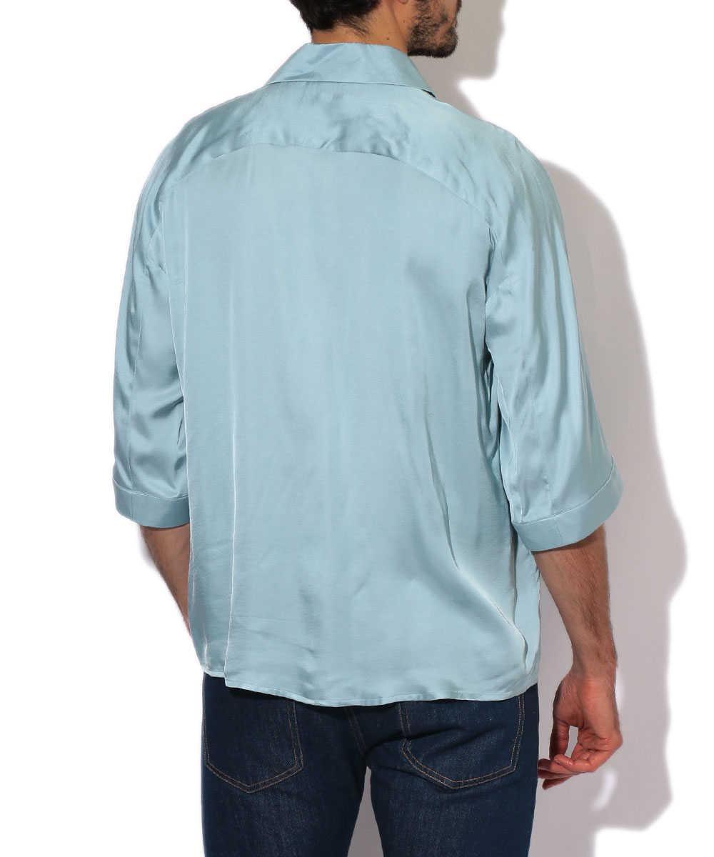 ダブルブレストシャツ