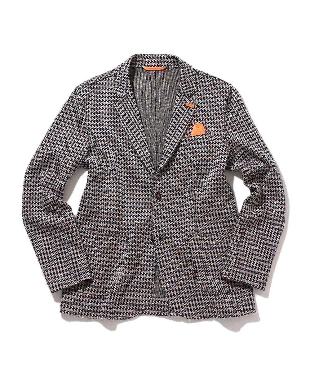 千鳥格子テイラードジャケット