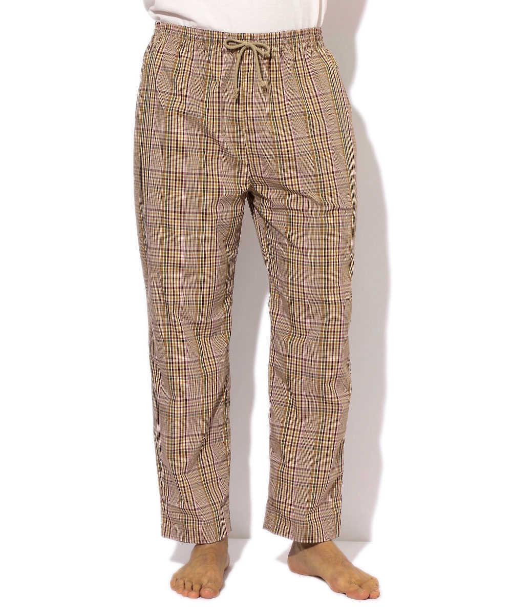 マルチチェック柄パジャマパンツ
