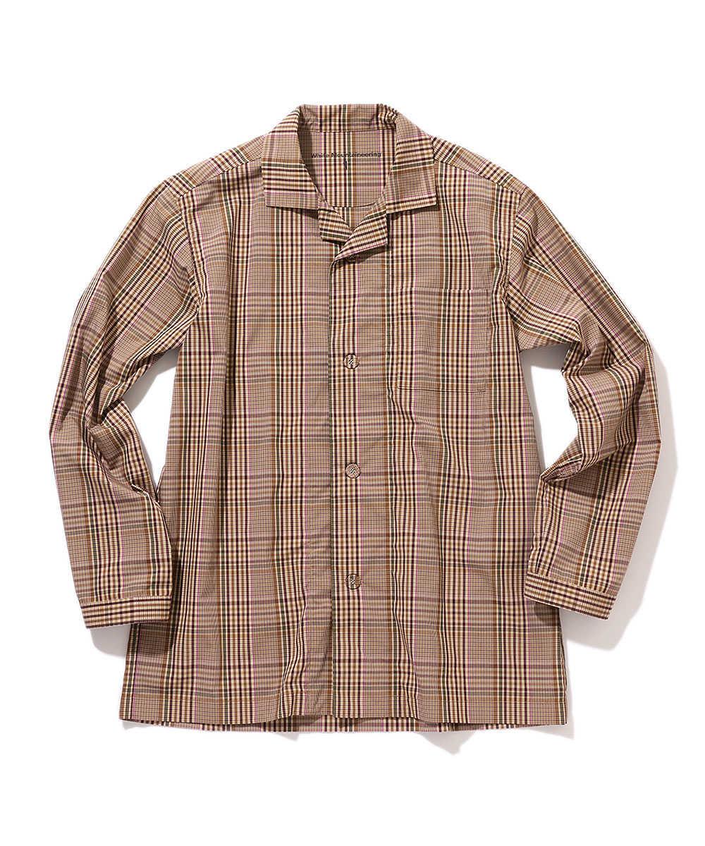 マルチチェック柄パジャマシャツ