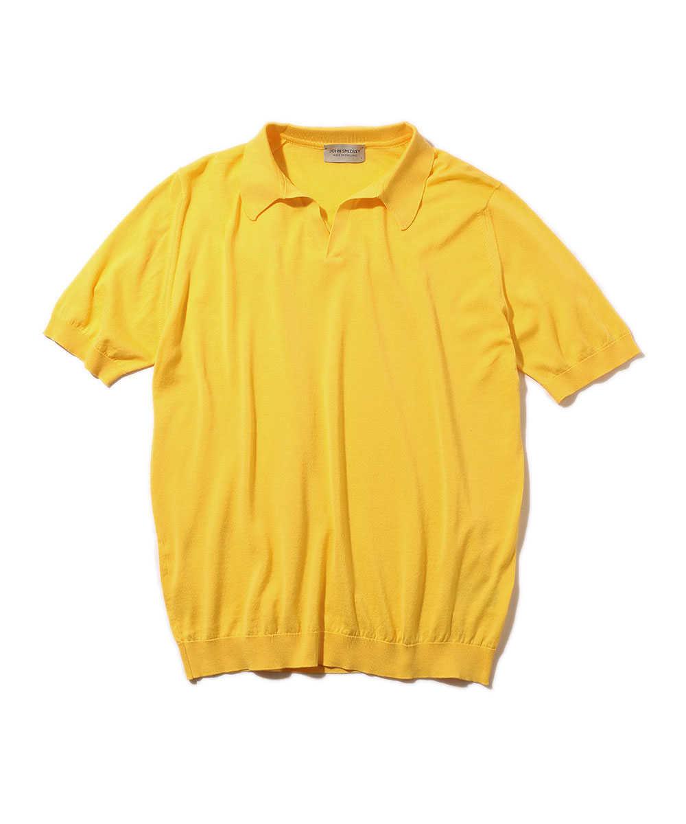 スキッパーニットポロシャツ
