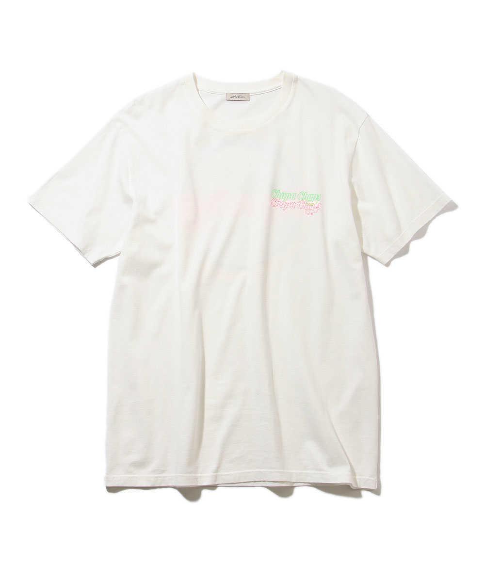 """【別注・限定商品】""""チュッパチャプス""""ロゴクルーネックTシャツ"""