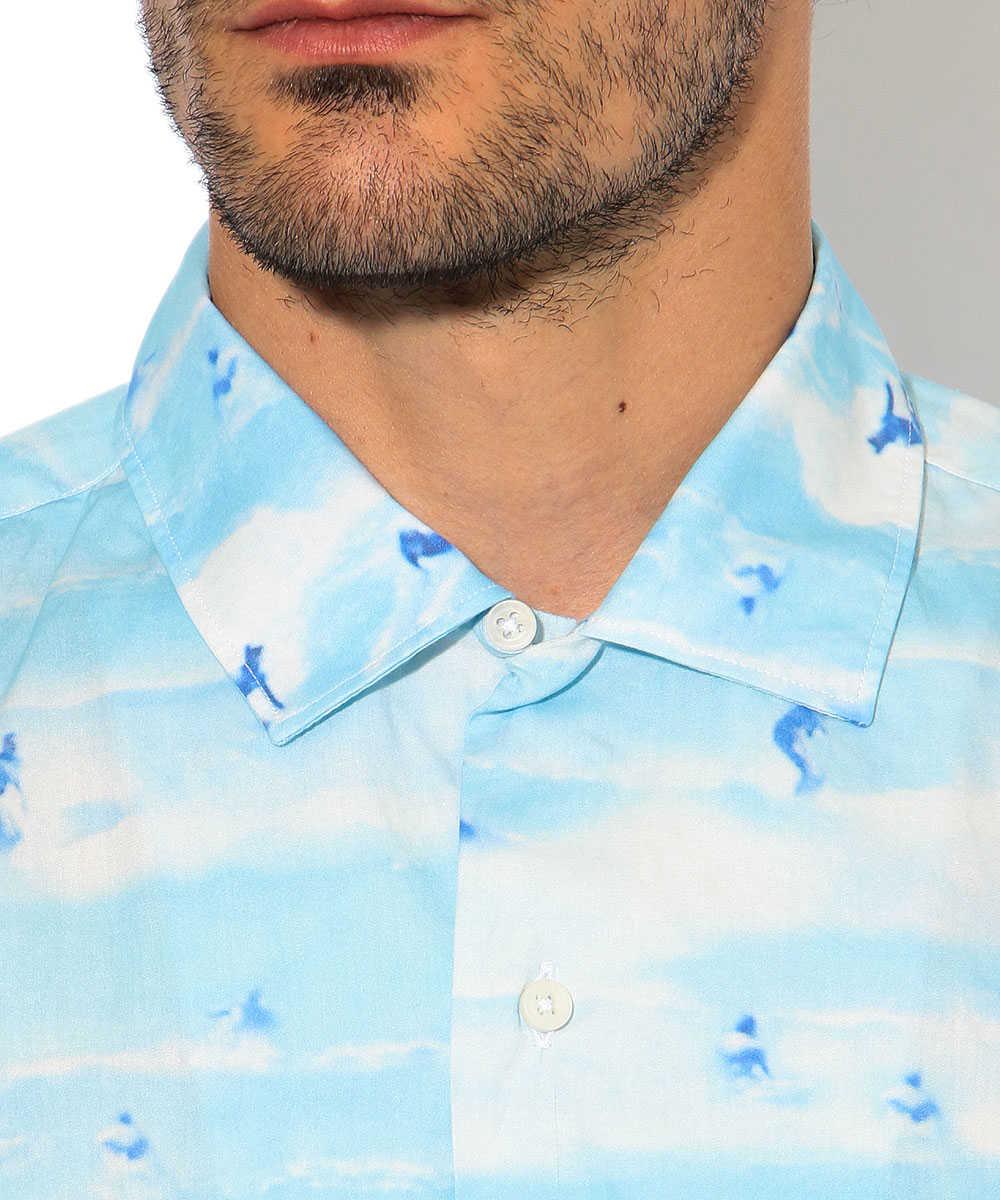 総柄開襟シャツ