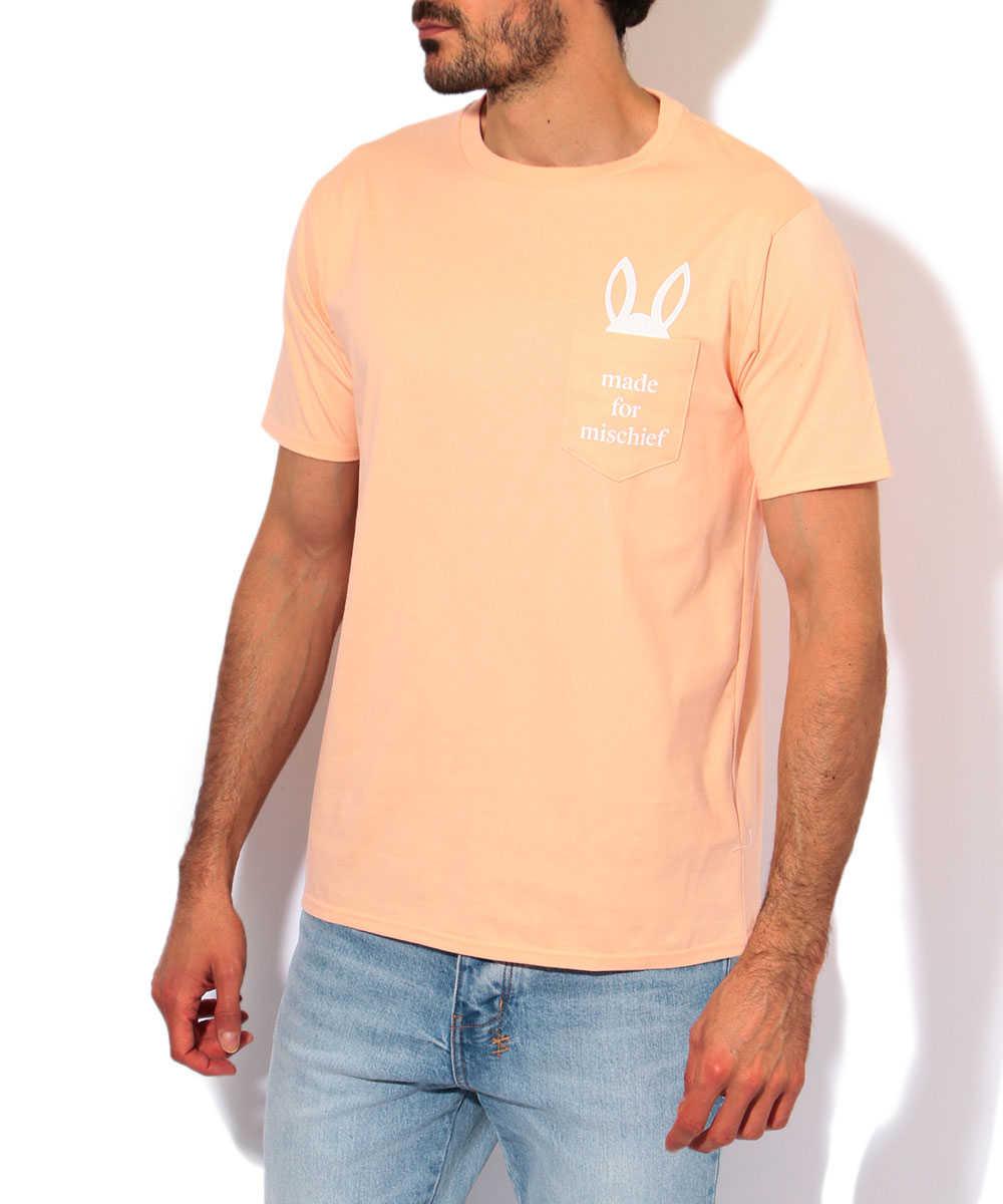ポケットバニークルーネックTシャツ