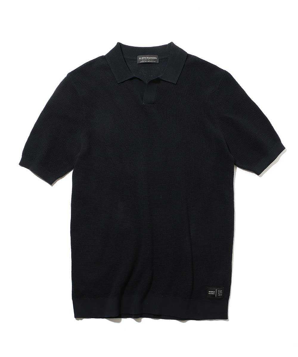 ハーフスリーブニットポロシャツ