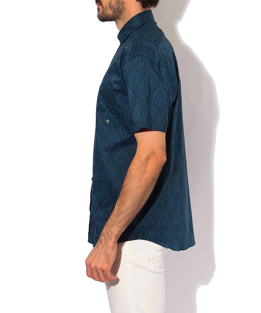 半袖インディゴシャツ