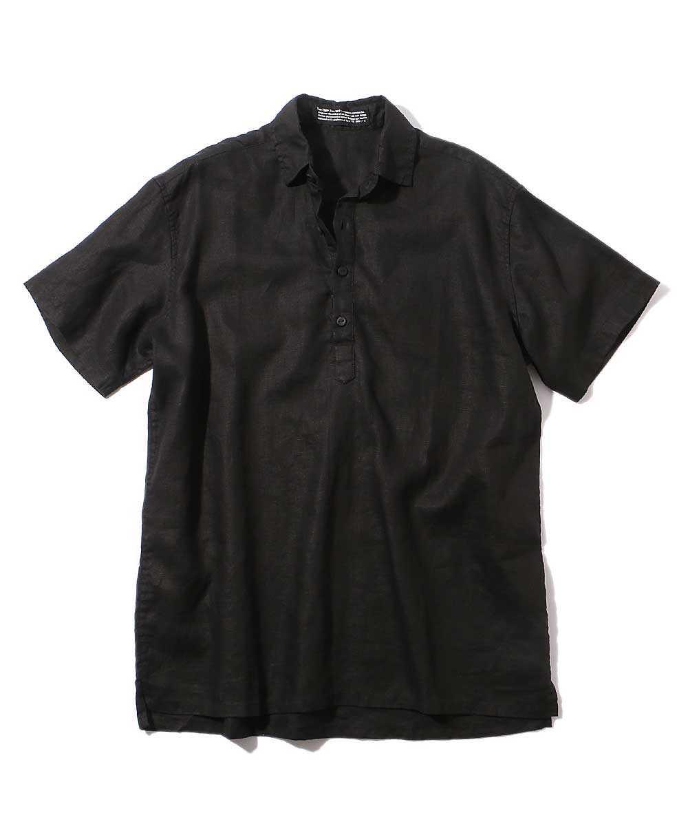 プルオーバーリネンシャツ