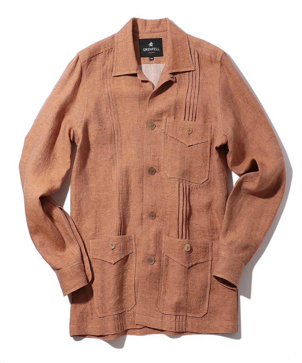 リネンシャツジャケット