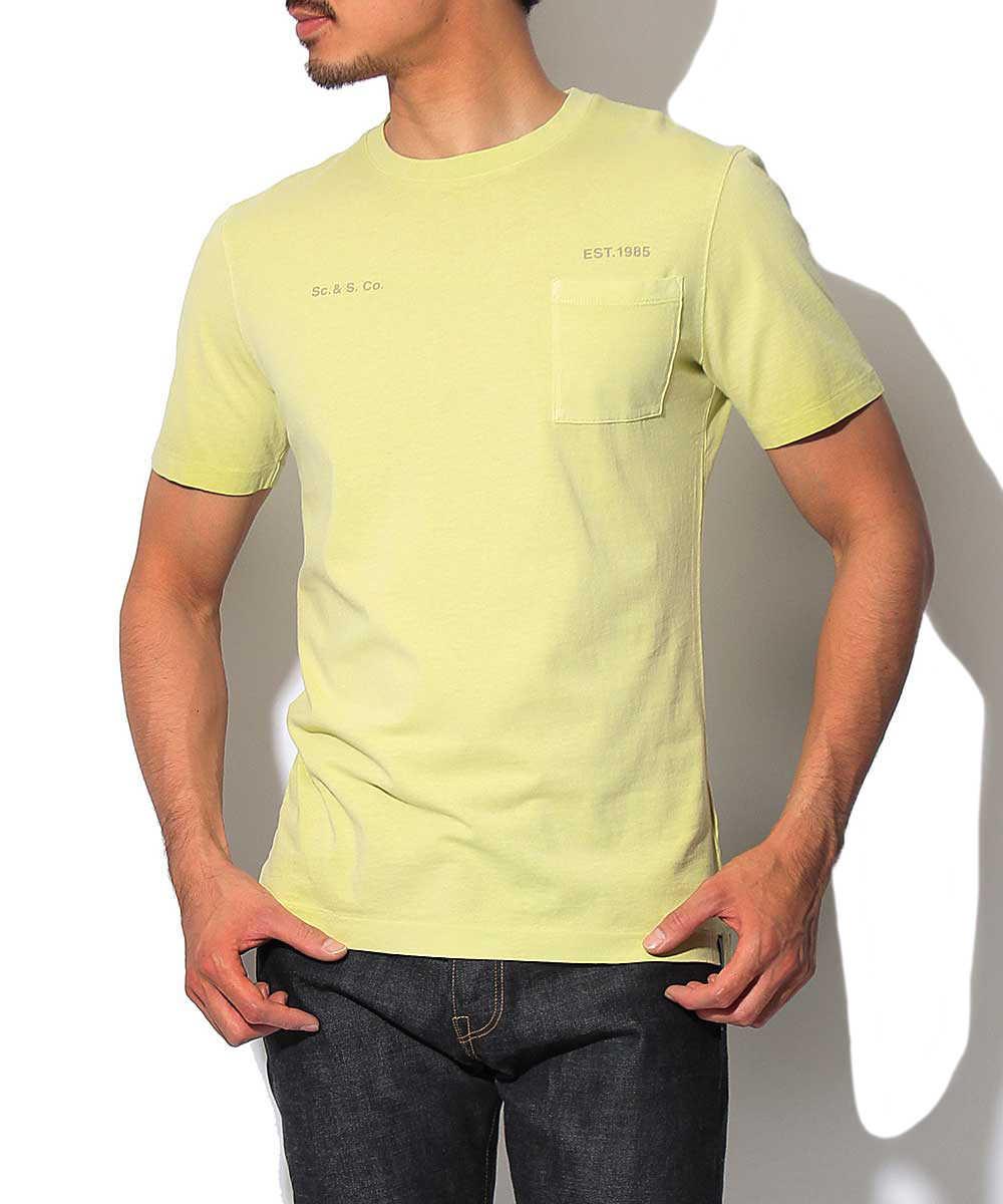 ウォッシュクルーネックTシャツ