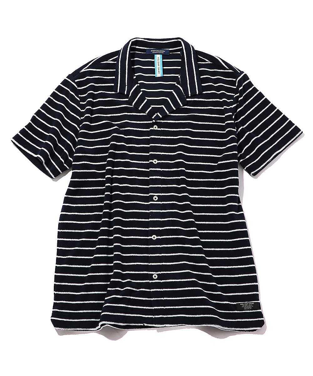パイル開襟シャツ