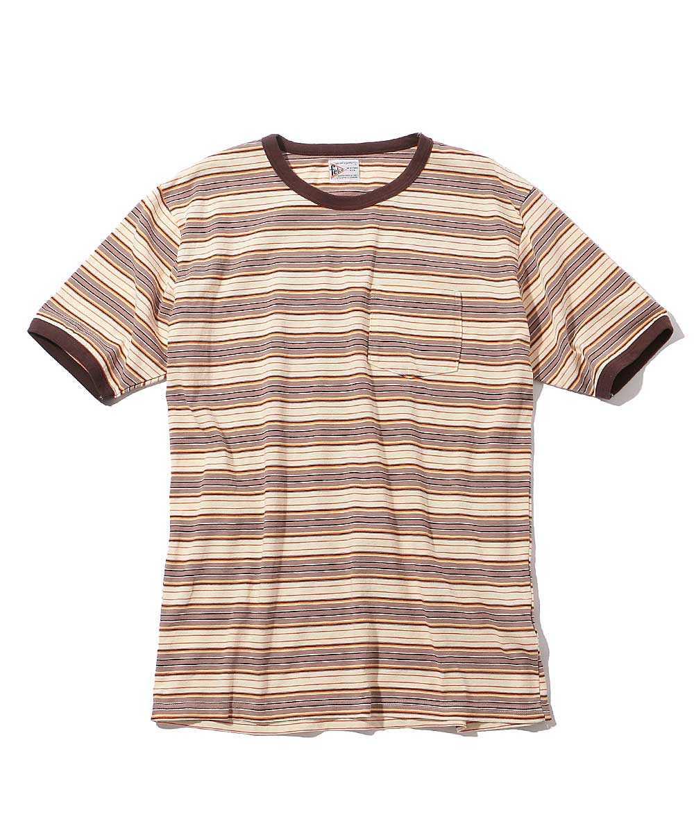 リンガーボーダークルーネックTシャツ