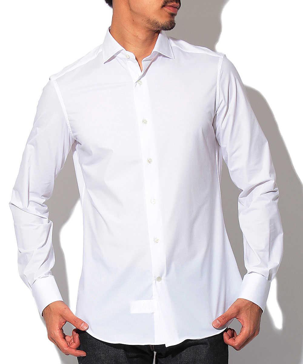 セミワイドカラーストレッチシャツ