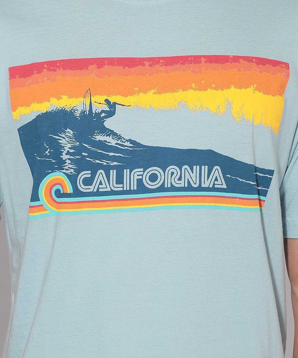 """""""カリフォルニア""""プリントクルーネックTシャツ"""