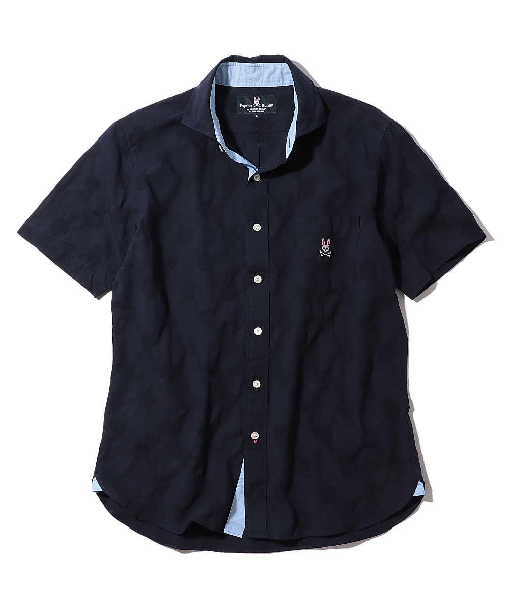 ドットジャガードシャツ